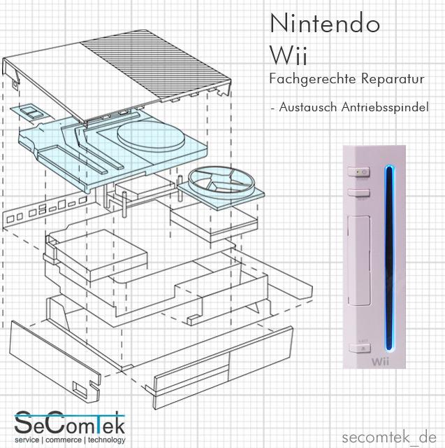 NINTENDO Wii DEFEKT? REPARATUR SPINDELMOTOR SPINDEL ANTRIEBSSPINDEL ...